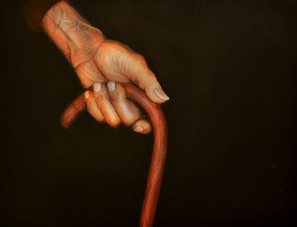 """Ewa Nowacka - """"Przejście""""-  dyptyk (fragment), akryl na płótnie 60 cm x 80 cm, 2015r."""