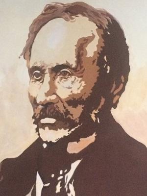 Julia Haja, portret Adama Gorczyńskiego - patrona Gimnazjum w Brzeźnicy