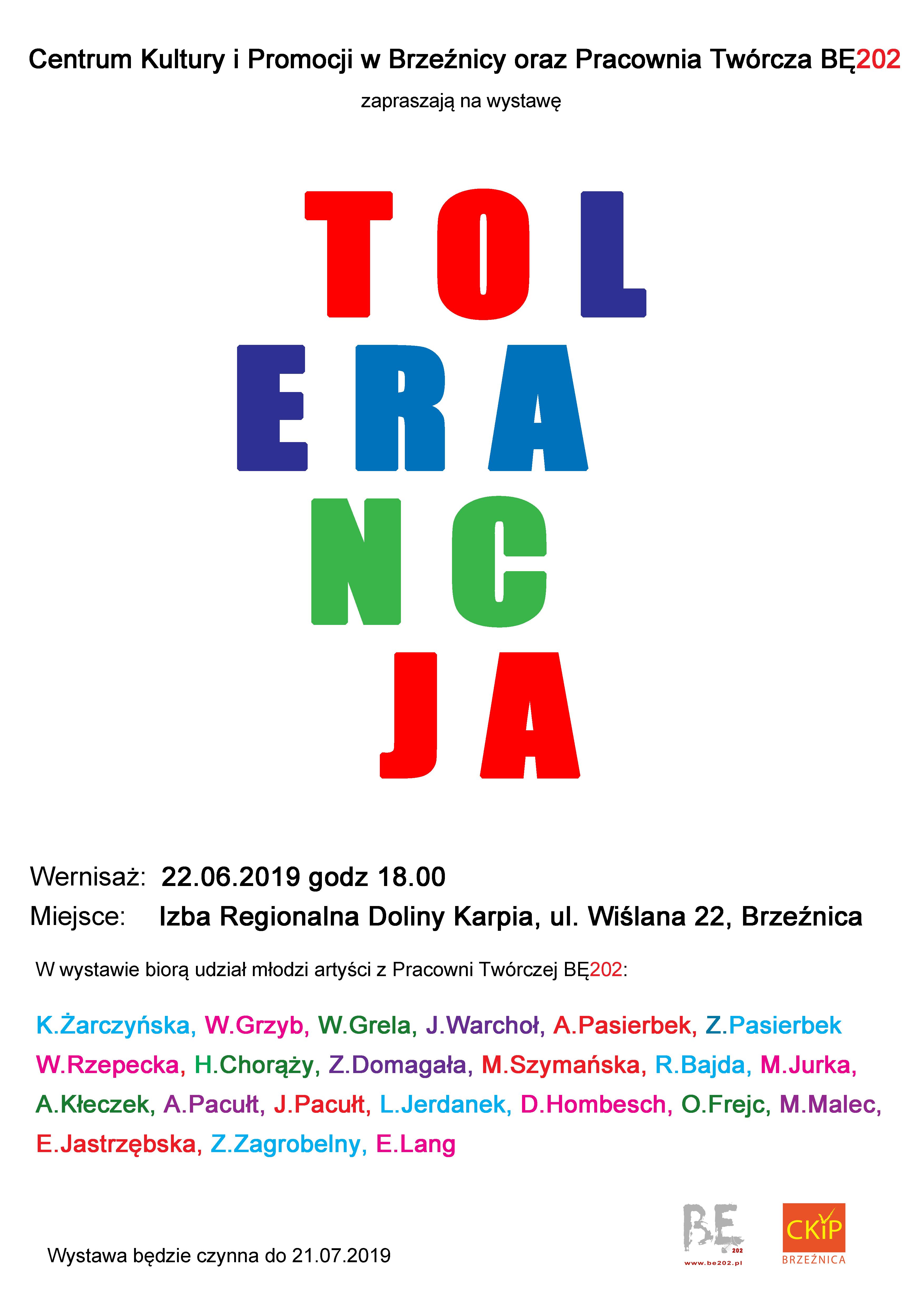 "Wystawa ""TOLERANCJA"